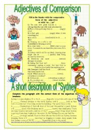 English Worksheet: adjectives of comparison