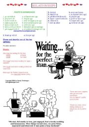 Dating - Cartoons and vocabulary exercise