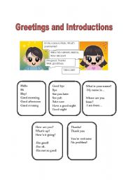 Greetings introductions and farewells esl worksheet by americorps greetings introductions and farewells m4hsunfo