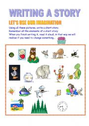 English Worksheets: Writing Stories