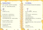 English Worksheets: Question mark or fullstop (period)