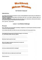 English Worksheets: African Wisdom Lessons