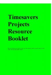 English Worksheets: Timesavers projects resource booklet