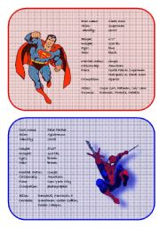 English Worksheet: Superheroes Secret Identities