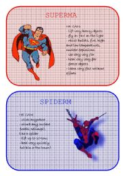 English Worksheet: Superheroes Superpowers