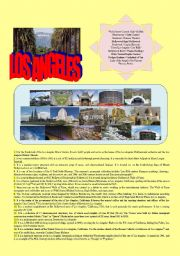 English Worksheet: sightseeing LOS ANGELES text-based activity (fully editable, +answer key)