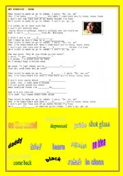 English Worksheet: SONG: REHAB - AMY WINEHOUSE
