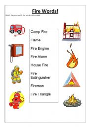 English Worksheets: Fire Words