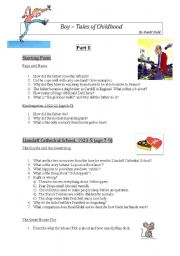 English Worksheets: Reading guide to Roald Dahl´s