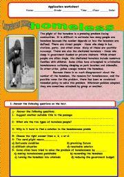 English Worksheets: homeless