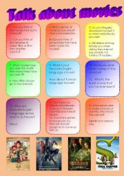 English Worksheets: Talk about movies