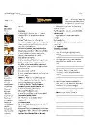 Back to the Future Part I: Worksheet 2 of 7