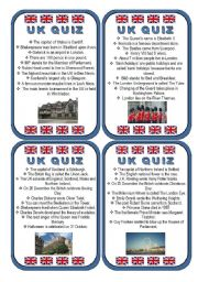 English Worksheet: Indirect Questions Game - UK Knowledge Quiz