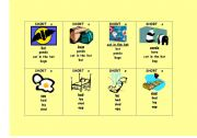 English Worksheets: Phonics Go Fish Game