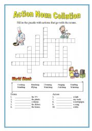 English Worksheets: Action noun collation