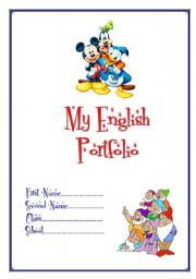 English Worksheet: My English Portfolio 1 (cover)