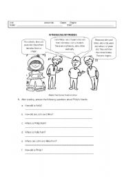 English Worksheets: INTRODUCING YOURSELF