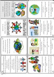English Worksheet: The Children of the World Help Mother Earth, Mini Book for the children of Pakistan.