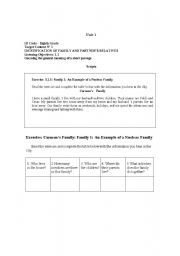 English Worksheet: Family Listening Exercise