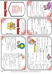 English Worksheet: Elementary Grammar Review Minibook (to be, some / any, there is / there are, pres. continuous, to have, possessives, poss. case)