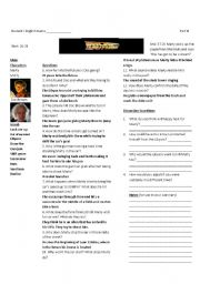 Back to the Future Part I: Worksheet 3 of 7