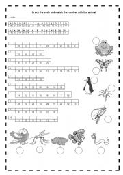 English Worksheets: ANIML�S CODE
