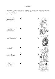 English worksheets: Stages of development