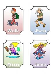 English Worksheets: Action verb Flashcards(1 of 12)