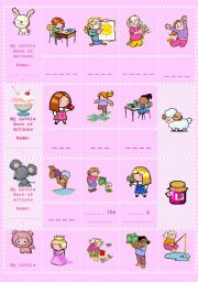 English Worksheets: My little book of actions