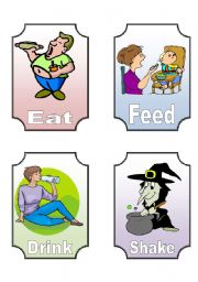 English Worksheets: Action Verb Flashcards (3 of 12)