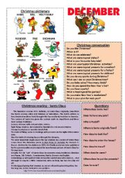English Worksheets: December worksheet 12/12 (read, talk and discuss)