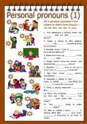 Personal pronouns 1