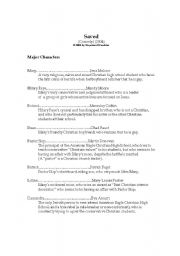 English Worksheets: Plot summary,words and expressions,questions for discussion of