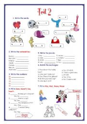 English Worksheets: My English Portfolio 12 (Test 2) + Separators