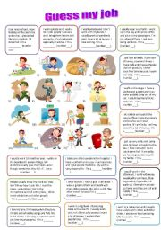 English Worksheet: Guess my job