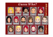 English Worksheet: Guess Who Game - Board (1 of 2)
