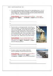 English Worksheets: Environmental Disasters Indicative vs. Subjunctive Moods Part 3 of 7