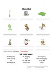English Worksheets: Complete with has