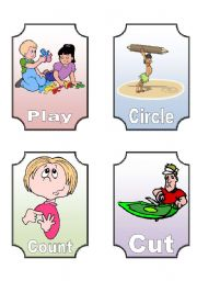 English Worksheets: Action Verbs Flashcards (6 of 12)