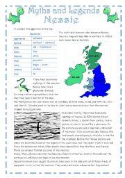 English Worksheet: NESSIE - Myths & Legends series #3