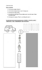 english worksheets a safe street scene. Black Bedroom Furniture Sets. Home Design Ideas