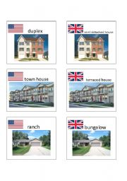 English worksheet: American / British English flashcards 3