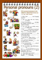 Personal pronouns 2