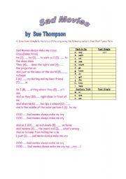 English Worksheets: Sad Movie