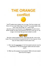 Worksheet Conflict Resolution Worksheets english worksheets the orange conflict worksheet conflict