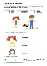 English worksheet: Easy exercises  for young learners.