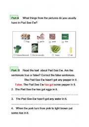 English worksheet: How to cook this food.