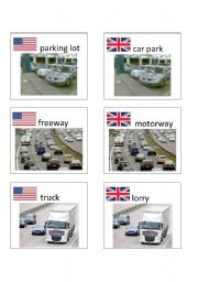 English worksheet: American / British English flashcards 4