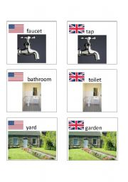English worksheet: American / British English flashcards 5