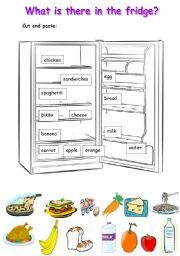 English Worksheet: what is there in the fridge